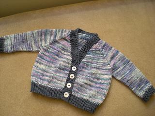 Ravelry: Newborn Top Down Cardigan pattern by Ann Lim