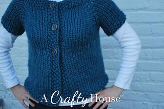 Knitting Pattern Cardigan Short Sleeve : Ravelry: Short Sleeve Quick Knitted Cardigan pattern by A ...