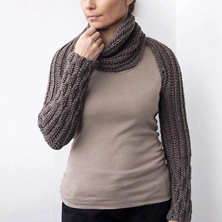 Ravelry: Knit look sleeve scarf pattern by Ana D