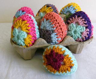 Easter Crochet Patterns For Beginners : Ravelry: Granny Eggs - Easter Crochet Pattern. pattern by ...