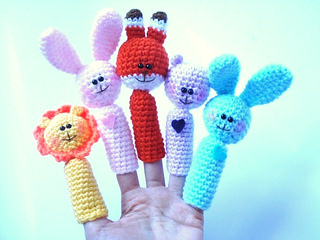 Ravelry: Amigurumi Bunny Finger Puppet pattern by ...