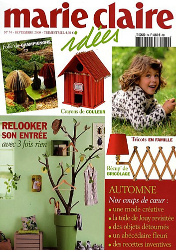 ravelry marie claire id es no 74 automne 2009 patterns. Black Bedroom Furniture Sets. Home Design Ideas
