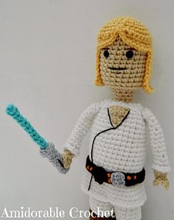 Amigurumi Lego Man : Ravelry: Luke Skywalker Star Wars Lego Man pattern by ...
