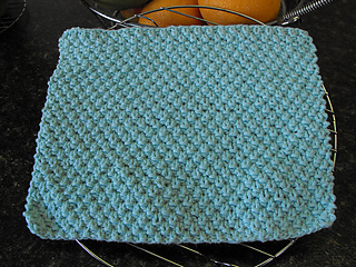 Knitted Moss Stitch Dishcloth Pattern : Ravelry: Irish Moss Stitch Dishcloth pattern by 4 Paws Knitting
