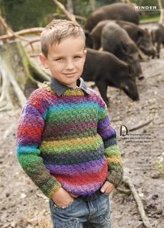 ravelry modell 74 kinderpulli in regenborgenfarben pattern by carolin schwarberg. Black Bedroom Furniture Sets. Home Design Ideas