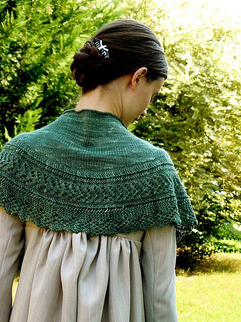 châle tricoté mariage