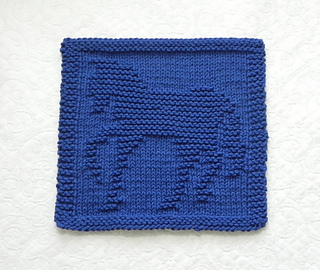 Ravelry: HORSE Knit Dishcloth pattern by Aunt Susan