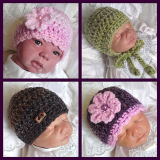 Chunky Earflap Hat Crochet Pattern Free : Ravelry: Chunky Baby Beanie & Earflap Hat Crochet Pattern ...