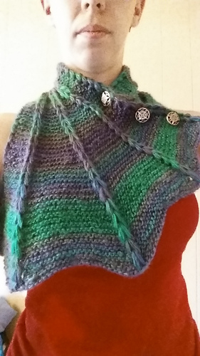 Ravelry Dragon Wing Cowl Pattern By Jessie Rayot