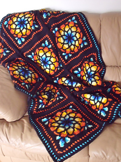 Ravelry Stained Glass Window Afghan Pattern By Melody