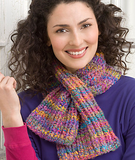 Free Online Baby Blanket Knitting Patterns For Beginners : Ravelry: Curly Q Keyhole Knit Scarf pattern by Jean Adel