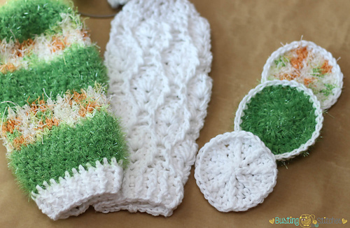 Ravelry Bath Mitt And Scrubbies Pattern By Stacey Williams