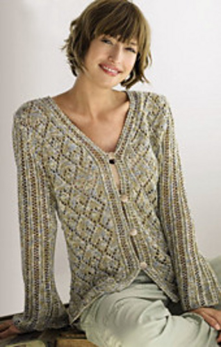Knitting Women S Sweaters Free Patterns : Ravelry gala print cardigan pattern by lana grossa