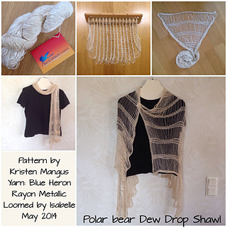 Dew Drop Wrap Free Crochet Pattern : Ravelry: Dew Drop Shawl pattern by Kristen Mangus
