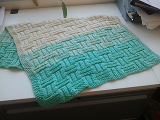 Ravelry Ombre Basket Weave Baby Blanket Pattern By Cathy