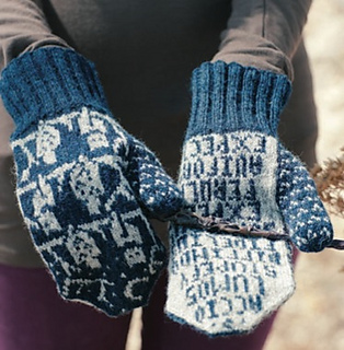 Knitting Patterns For Young Knitters : The Knitting Hour: O.W.L. Mitts Hours 1-5