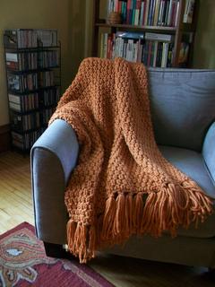 Ravelry Moss Stitch Afghan Knit Pattern By Lion Brand Yarn