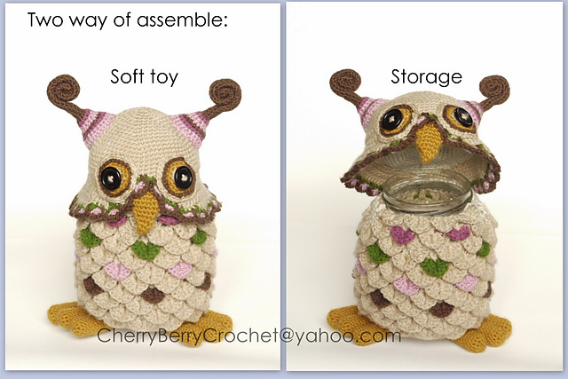 Owl Toy or Container Crochet Pattern