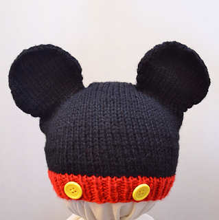 Knitted Minnie Mouse Hat Pattern : Ravelry: Mickey and Minnie Mouse Knit Hat pattern by Cynthia Diosdado