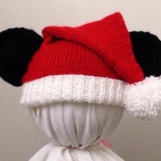 Ravelry: Mickey Mouse Santa Hat pattern by Cynthia Diosdado