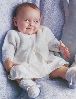 Patons Free Crochet Patterns Babies : Ravelry: Sweet Matinee Set: Jacket pattern by Patons