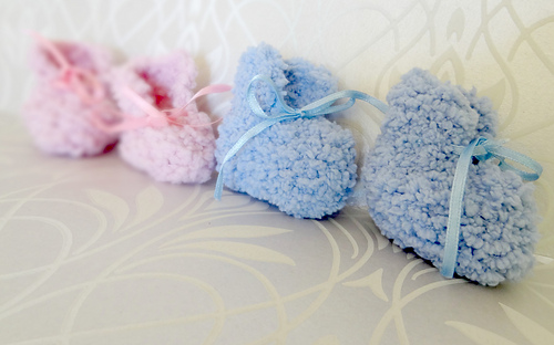 Easy Baby Booties Knitting Pattern For Beginners : Ravelry: Easy Baby Booties pattern by Rita at Craftbits
