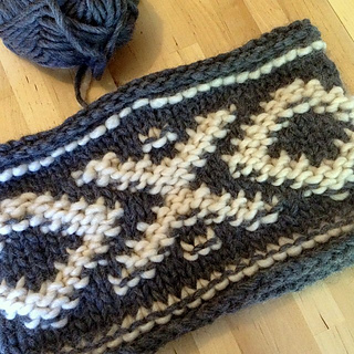 Aztec Knitting Pattern : Ravelry: Chunky Knit Aztec Cowl pattern by Andrea Rothwell
