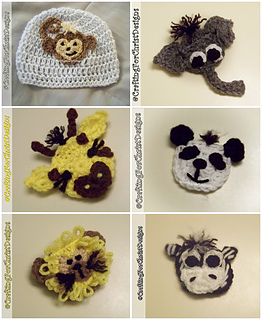 Free Crochet Patterns For Zoo Animals : Ravelry: Bs ?The Zoo Crew? Applique Pattern Pack pattern ...
