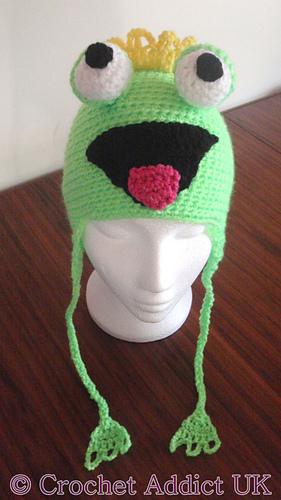 Ravelry: Frog Ear Flap Hat 1 yr+ pattern by Crochet AddictUK