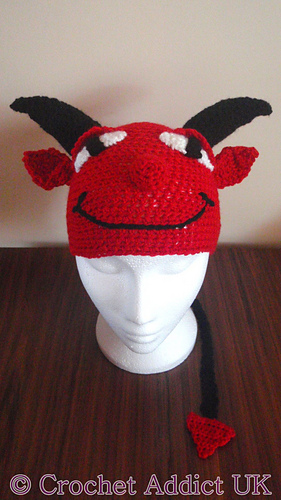 Ravelry Halloween Devil Hat 1 Yr Pattern By Crochet Addictuk
