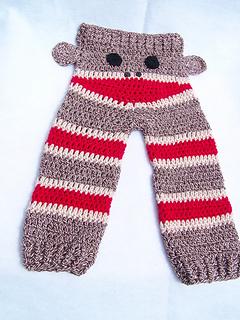 Knitting Pattern For Sock Monkey Pants : Ravelry: Sock Monkey Butt Pants pattern by Donelda Higgins