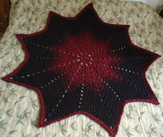 Ravelry 9 Pointed Star Round Ripple Pattern By Gene Saunders