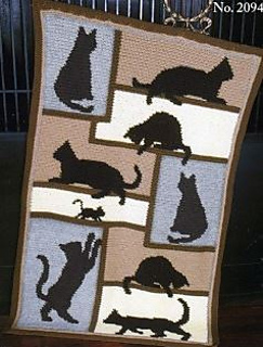 Free Crochet Pattern For Cat Afghan : Ravelry: Cat Silhouette Afghan pattern by Mary Maxim