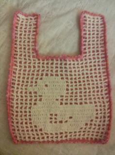 Filet Crochet Baby Bib Patterns : Ravelry: Ducky Filet Crochet Baby Bib pattern by Denise ...