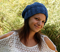 Christine Knitted Slouchy Tam Hat PDF