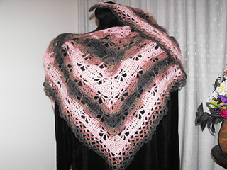 Free Crochet Pattern For Butterfly Shawl : Ravelry: Butterfly Stitch Prayer Shawl pattern by njSharon ...