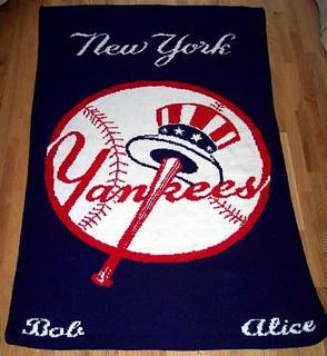 Ravelry: New York Yankees Afghan pattern by Deborah V. Gardner
