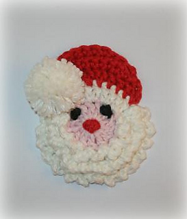 Free Crochet Santa Claus Coaster Pattern : Ravelry: Santa Badge/Decoration Crochet Pattern pattern by ...