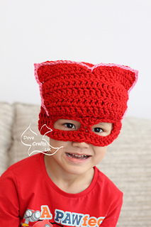 Ravelry Owlette Mask Hat Pj Masks Pattern By Dove Crafts Uk