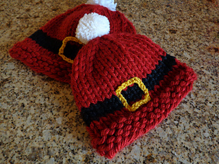 Knitting Pattern For A Christmas Hat : Ravelry: Ho Ho Hat pattern by Lori Riemer