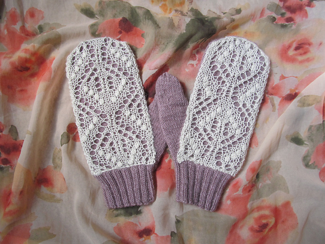 mitaines mouffles tricotées Einstein Mittens by Emily Bujold