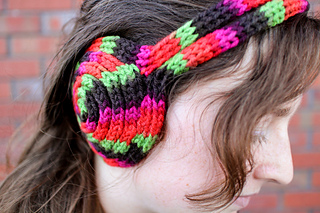 Free Crochet Earmuff Pattern : Ravelry: French Knit Earmuff Headband pattern by Penolopy ...