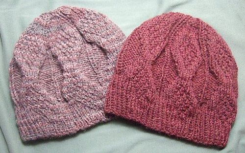 Toque Knitting Pattern Straight Needles : Ravelry: Mock Aran Knitted Mens Hat for Straight Needles pattern by Heather T...
