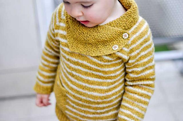 Chandail tricoté pour enfant Bihan Heol par Elise Dupont