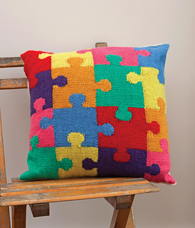 Jigsaw Blanket Knitting Pattern : Ravelry: Jigsaw Cushion pattern by Kim Dickinson