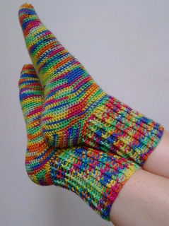 Crochet Socks Patterns Toe Up : Ravelry: Toe Up Crocheted Sock With Gusset - Basic Pattern ...