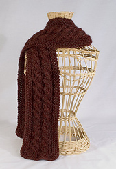 Five Cable Scarf PDF