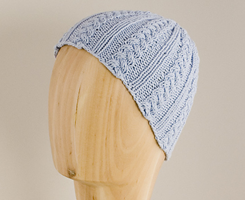 Baby Cable and Rib Hat PDF