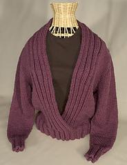 Ribbed Shawl Collar Sweater PDF