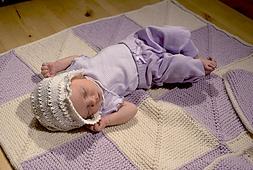 Mitered Square Baby Blanket PDF